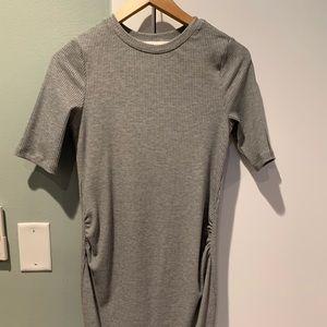 H&M grey maternity dress
